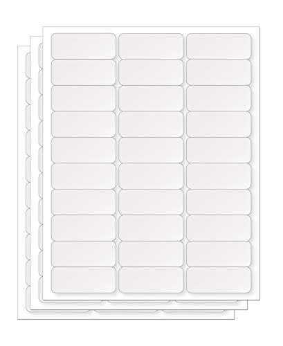 enKo 1 x 2-5/8 Inch 30 Up Return Mailing Address Labels White Printable FBA Labels (330 Sheets, 9900 Labels)