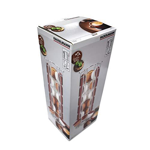 Fackelmann 20990, Portacapsule in metallo per Dolce Gusto di Krups, capienza: 18 capsule, 3 colonne