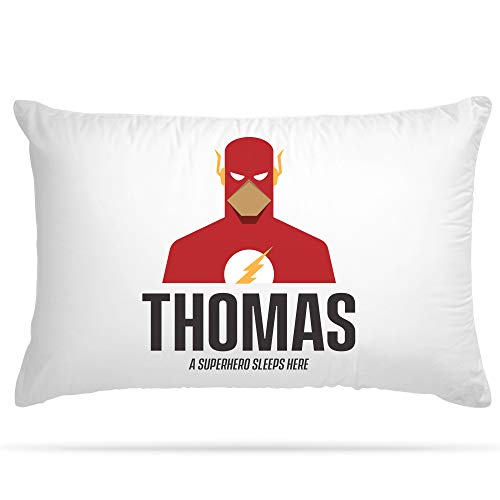Personalised Pillow Case 15 Different Superhero Any Name Print Gift for...