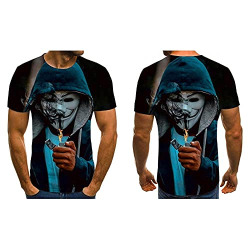 T-fashion shop Celebridad de Internet Mismo Estilo,Nueva Camiseta de impresión Digital 3D Casualidad-D_L