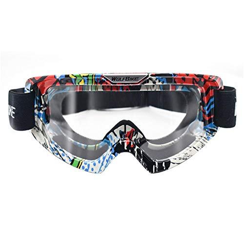 Seasaleshop Motorfietsbril UV-veiligheidsbril skibril winddicht veiligheidsbril rijbril voor outdoor-activiteiten skiën fietsen snowboard wandelen oogbescherming voor dames en heren