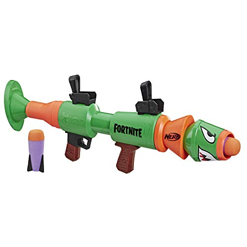 Replica dei blaster spararazzi di Fortnite Trasferisci l'azione nella vita reale Include 2 razzi Età consigliata 8 + anni