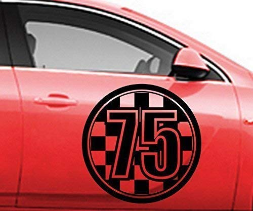 40cm Startnummer 1 999 Aufkleber Auto & Motorrad Startnummern Rally Nummer Autoaufkleber Autonummer 2J025