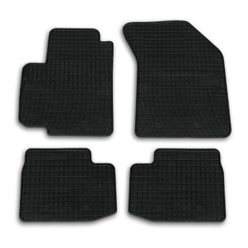 Frogum 0600 Gummimatten Auto Fußmatten Gummi Passgenau 4-teiliges Automatten Set Schwarz