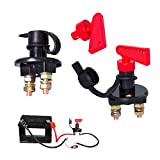 Battery Isolator Switch,RoadLoo 2 Pcs Battery Power Cut Off Switch 12V-48V Battery Disconnect Switch Master Power Cut-off Switch Kit Car Battery Power Switch for Car Truck Van Caravan (2)