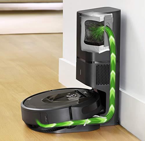 iRobot Roomba i7+ aspiradora robotizada Sin bolsa Negro 0,4 L - Aspiradoras robotizadas (Sin bolsa, Negro, Alrededor, 0,4 L, AeroForce, Carga, Purification)