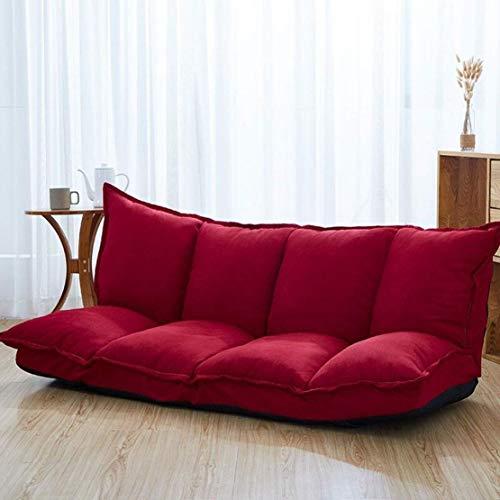 GJZM sillones Puff sofá Perezosa Tatami Moderna Minimalista Sofá Plegable Doble Multifuncional...