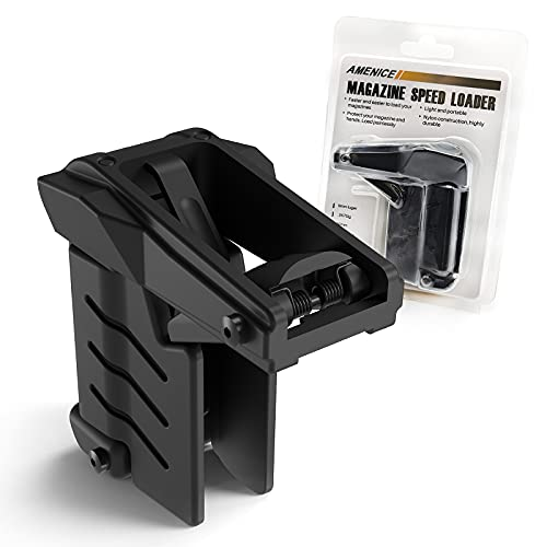 AMENICE Universal Magazine Speed Loader Apply to 9mm,10mm .357 Sig.40.45ACP, and .380ACP Caliber, and 1911 Magazines.Fit Double-Stack Magazines