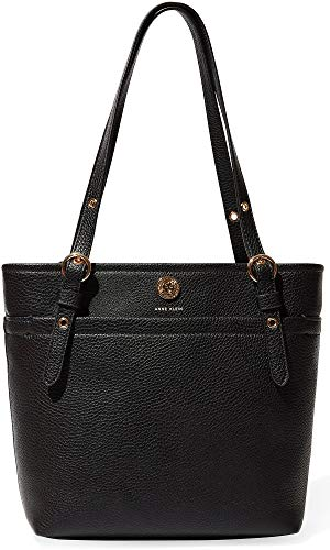 Hold onto a fabulous look with the Anne Klein® Pocket Small Tote. Made of faux-leather. Top zipper closure. Dual flat handles with adjustable buckles. Exterior boast brand logo hardware at front. Lined interior features zipper and slip pockets. Flat ...