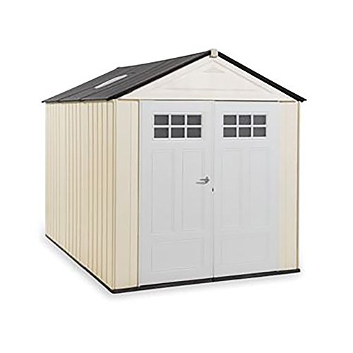 Rubbermaid Outdoor Storage Shed, 7X10, Sandstone -  1862706