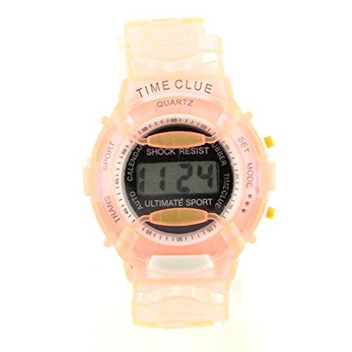 Reloj LCD con cronógrafo resistente a los golpes para mujer