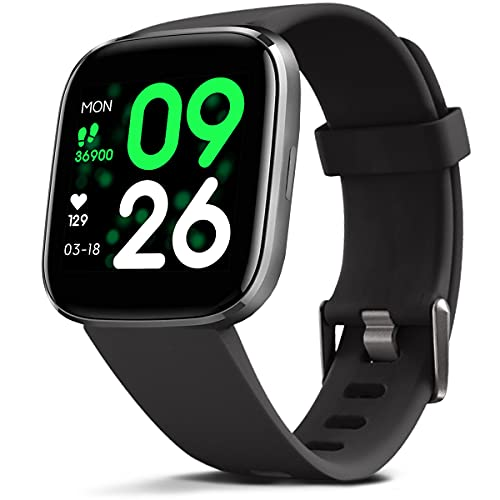 FITVII Smart Watch, Fitness Tracker with Heart Rate Monitor, IP68 Waterproof Smartwatch with Blood Pressure Sleep Tracking, Step Calorie Counter, Activity Tracker with Temperature for Women Men