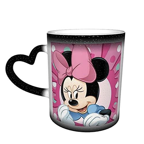 Taza de té de cerámica con diseño de Mickey Mouse Minnie con texto en inglés 'Loves' y oficina y hogar