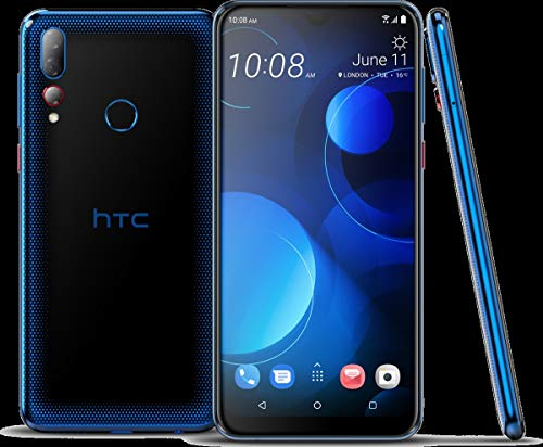 HTC Desire 19+ Smartphone (15,8 cm (6,22 Zoll) IPS Display, Triple Hauptkamera, 64 GB Speicher und 4 GB RAM, Dual-SIM, Android 9.0) Starry Blue