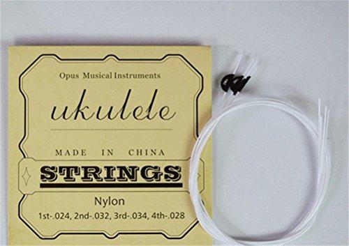 4pcs clásica blanco nylon Cuatro Cuerdas para guitarra eléctrica acústica ukelele 21/23/24/26Universal