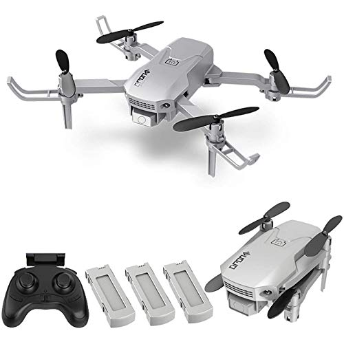 ZHCJH Drone RC, Mini Drone para niños y Principiantes, Quadcopter RC Plegable con Volteretas 3D, Modo sin Cabeza, Despegue/Aterrizaje con una tecla, Ajuste de Velocidad, 3 baterías