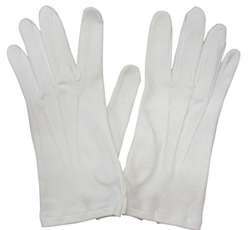 Gentleline Frackhandschuhe, weiß, 100% Baumwolle Größe 10 1/2