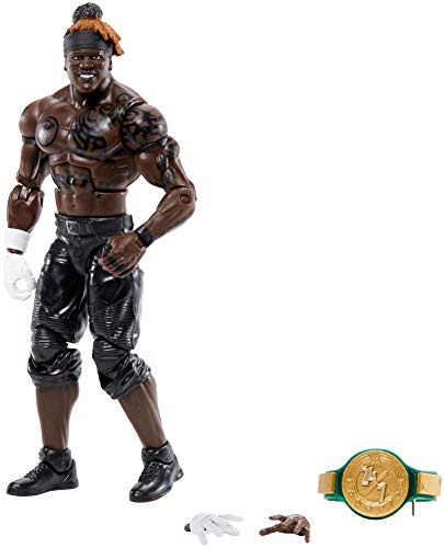 WWE R-Truth Elite Series #78 Deluxe Action Figure with Realistic Facial Detailing, Iconic Ring Gear & Accessories