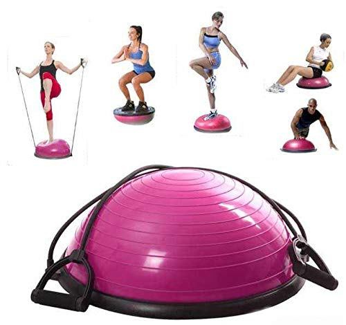 Twiga Yoga Half Ball Dome Balance Trainer Fitness Strength Exercise Workout with Pump Pink