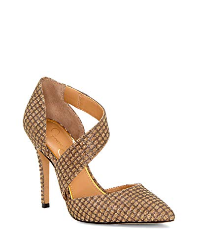 Jessica Simpson Women's Pintra Pump, Gold Lattice, 9.5 M US