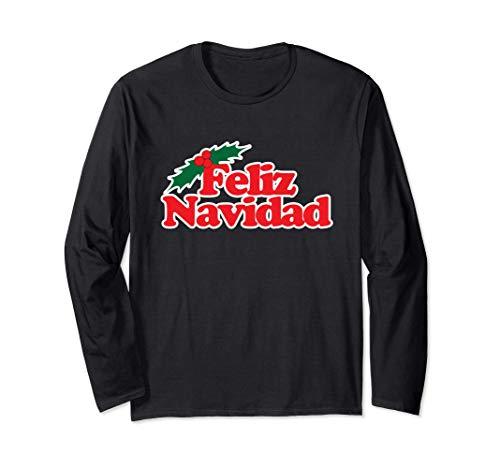 Buon Natale Feliz Navidad Buone vacanze I love Christmas Maglia a Manica