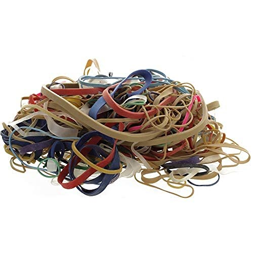 Ram-Pro 2 Pack Multi Color Rubber Bands - Assorted Dimensions Elastic Bands Stretchable and Reusable Durable Rubber Bands, General Purpose Rubber Bands for Home and Bank, Assorted Sizes