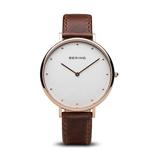 BERING Damen-Armbanduhr Analog Quarz Leder 14839-564