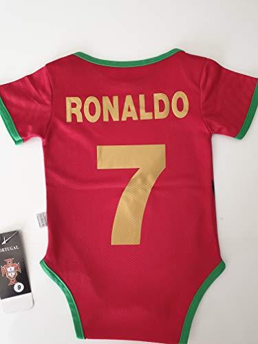 le manege enchante Body Bebe Foot Portugal Flocage Ronaldo Neuf Euro 2020 9/18 Mois
