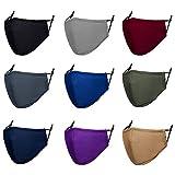 Adult Cloth Face Mask Reusable - Washable Face Masks Adjustable 3Py Face Masks Cover for Women Men - Pack of 9