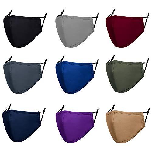 Adult Cloth Face Mask Reusable - Washable Face Masks Adjustable 3Py Face Masks Cover for Women Men -...