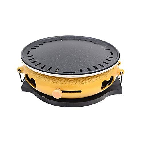 Holzkohlegrills Barbecue Grill, Gusseisen Ofen, Rauchfreie Charcoal Grill, Split Typ Leicht zu reinigen, Indoor Outdoor, Farbe 2, 7 Styles (Color : A, Size : 2)