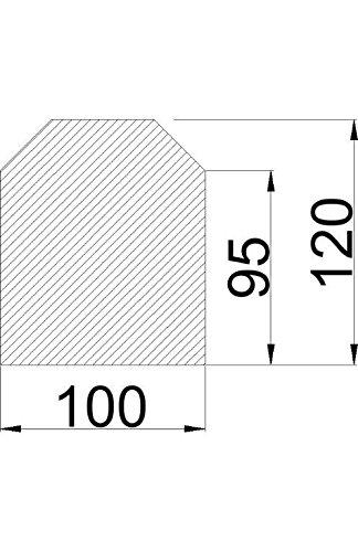 Bodenplatte Stahl schwarz Sechseck Kaminofen/Holzofen Hitzebeständig einbrennlackiert Senotherm