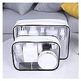 Bolsas de cosméticos transparentes para cosméticos, bolsa de viaje, bolsa de maquillaje, esteticista, neceser de belleza, neceser de maquillaje (tamaño: S1)