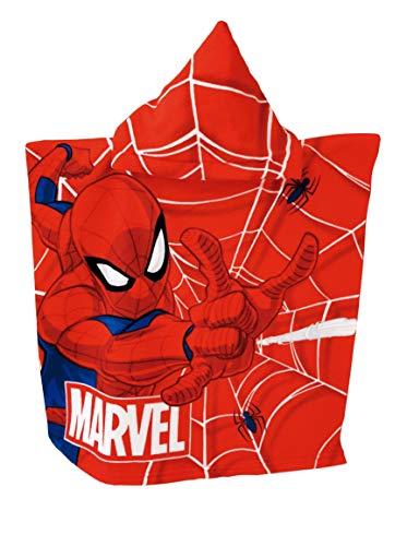 Badetuch Bademantel Kapuzenhandtücher Kapuzen Poncho für Kinder tolles Geschenk Mikrofaser (Spiderman)