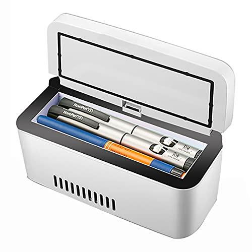 WDAA Mini Refrigerador de Insulina Portátil Recargable Estuche de Viaje Pantalla LCD 2-8 ° C Enfriador de Insulina Mini Refrigerador Insulina