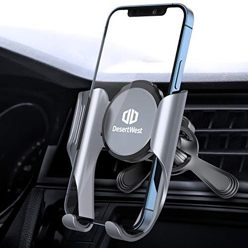 Handyhalterung Auto Lüftung [Geeignet für alle Lüftungen], DesertWest Handyhalter fürs Auto mit Memory-Funktion, Universale Kfz Smartphone Halterung Kompatibel mit iPhone, Samsung, Huawei, Xiaomi usw.