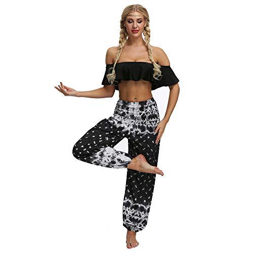 LANDENG 2020 Nuevos Pantalones de Yoga para Mujer Pantalones de harén con Estampado...