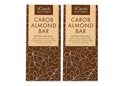 チョコより低カロリー キャロブバー 80g×2個 ★ネコポス<秋冬限定配送>★キャロブに含まれるミネラルやカルシウム、鉄分等の栄養価もありながら、砂糖不使用でキャロブだけの自然な甘さとクラッシュアーモンドの食感も味わえます。
