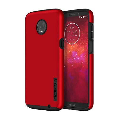 Incipio DualPro Case für Motorola Moto Z3 Play - von Motorola zertifizierte Schutzhülle (rot/schwarz) [Extrem robust I Stoßabsorbierend I Soft-Touch Beschichtung I Hybrid] - MT-454-RBK