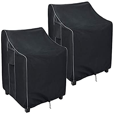 Amazon - 55% Off on Patio Stackable Chair Covers Waterproof, Heavy Duty Outdoor Furniture Chair Covers