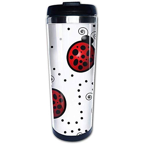 400ml Taza de café de viaje Arte Mariquita Taza de café con aislamiento de acero inoxidable Botella de agua deportiva