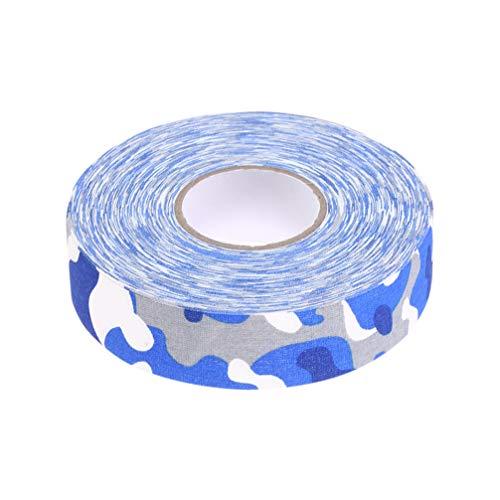 BESPORTBLE 2 Stück Baumwoll-Hockeybänder Selbstklebendes Hockeyschlägerband Wickelt Sportschlägerband für Weibliche Männer Frauen (Blaue Tarnung)