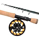 KastKing Ascension Soloscopic Fly Combos,Combo,8 Wt 9ft Fly Rod,7 and 8 Reel