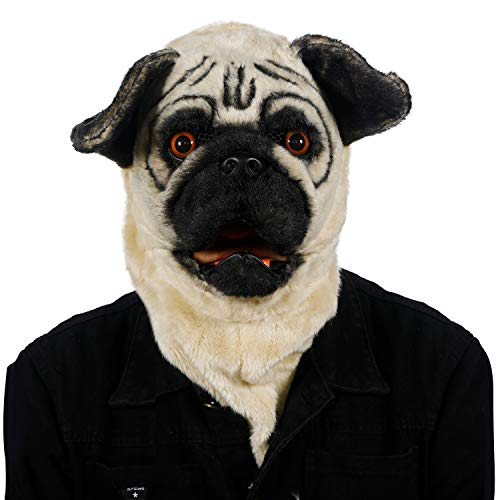 ifkoo Realistic Mouth Mover Bulldog Mask for...