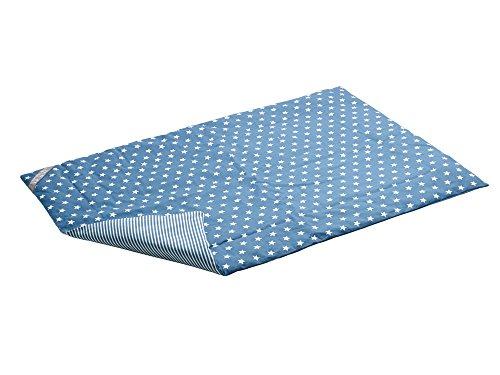 HUNTER Aarhus Hundedecke, wasserabweisend, schmutzabweisend, antibakteriell, Wendedecke mit Sternen und Streifen, 120 x 80 cm, blau