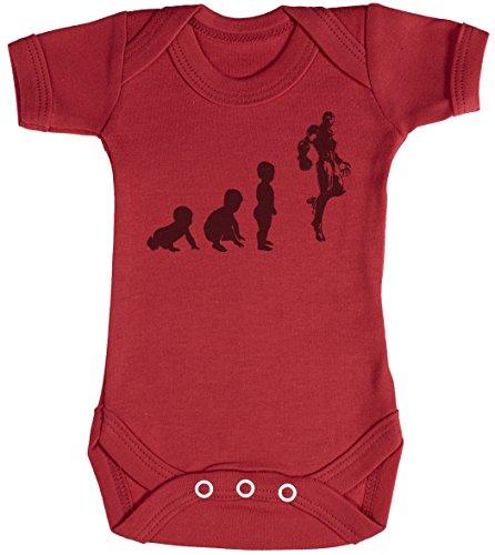 Baby Evolution to A Iron Man Body bébé - Gilet bébé - Body bébé Ensemble-Cadeau - Naissance Rouge