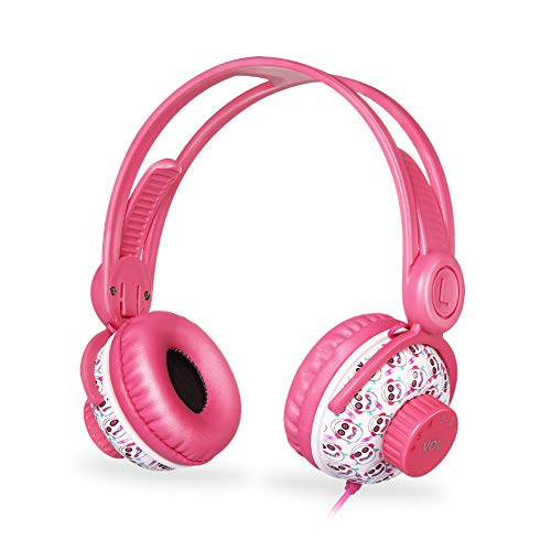 YYZLG KD-370 Bedraad Kinderen Hoofdtelefoon Volume Limit 3.5mm Interface Sharing, 94 Decibel Volume Limited-Children's Oortelefoons, Blauw, Roze