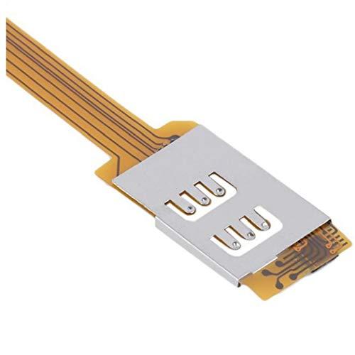 IUwnHceE teléfono móvil Adaptador Doble Doble Tarjeta SIM para el Uso de Dos SIM de Samsung, el Adaptador de teléfono móvil Multifuncional Accesorios electrónicos