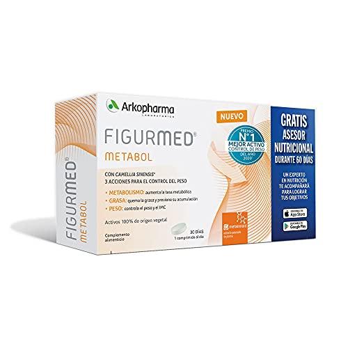 Arkopharma Figurmed Metabol Pack 30 Cápsulas, Reduce Contorno de Cintura, Perímetro Abdominal y Contorno de Brazo, Pérdida de Peso + Asesoramiento Nutricional