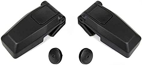 Rear Hatch Liftgate Glass Repair Hinge Set Kit Pair Left Right For 2008-2012 Jeep Liberty Replaces OE#s 57010060AB 57010061AB